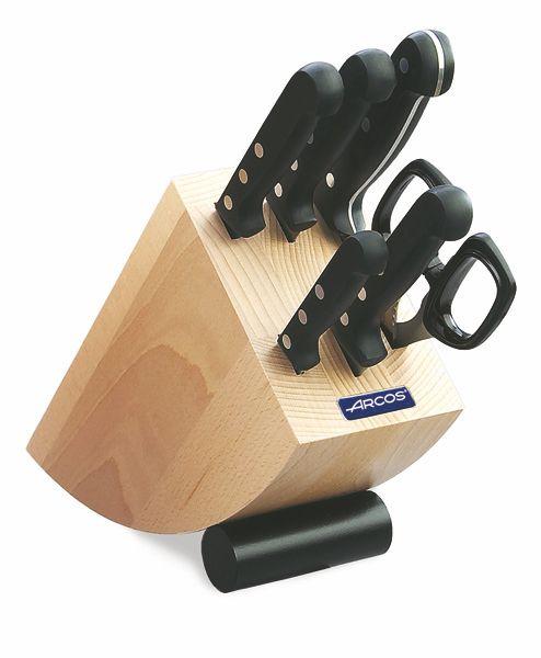 Набор ножи Аркос в деревяной подставке