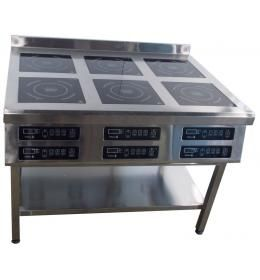 Плита индукционная напольная 6-ти конфорочная 3,5 кВт Т (1177/900/850)