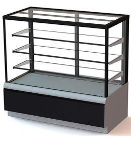 Кондитерская холодильная витрина ВХСв-1,3д Carboma Cube Люкс (Техно)