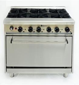 Промышленная плита 6-ти конфорочная с духовкой GR6-36CE