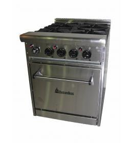 Профессиональная газовая плита 4 конфорочна с духовкой GR 4-24